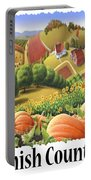 Amish Country - Pumpkin Patch Country Farm Landscape Portable Battery Charger