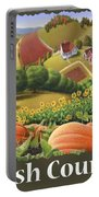 Amish Country T Shirt - Pumpkin Patch Country Farm Landscape 2 Portable Battery Charger