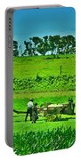 Amish Gathering Hay Portable Battery Charger