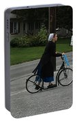 Amish Girl Going To Work Portable Battery Charger