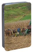 Amish Harvest In Ohio  Portable Battery Charger