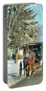 Amish Winter Portable Battery Charger by David Arment