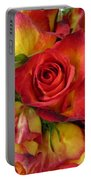 Among The Rose Leaves Portable Battery Charger