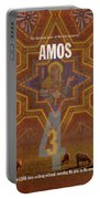Amos Books Of The Bible Series Old Testament Minimal Poster Art Number 30 Portable Battery Charger