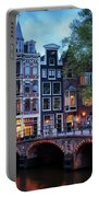 Amsterdam At Twilight Portable Battery Charger