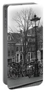 Amsterdam Bikes Black And White Portable Battery Charger