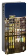 Amsterdam Canal Houses At Night Portable Battery Charger