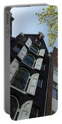 Amsterdam Spring - Arched Windows And Shutters - Right Portable Battery Charger