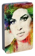 Amy Winehouse Colorful Portrait Portable Battery Charger