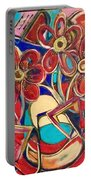 An Abstract Floral Portable Battery Charger