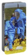 An Airman And A Soldier Jump Into A Tub Portable Battery Charger by Stocktrek Images