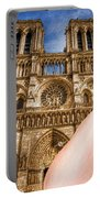 An American In Paris Notre Dame Portable Battery Charger
