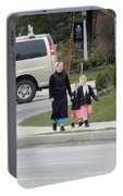 An Amish Family Going For A Walk Portable Battery Charger