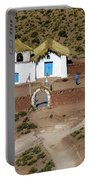 The Ancient Church At  Machuca In The Atacama Desert Portable Battery Charger