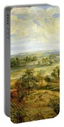 An Autumn Landscape With A View Of Het Steen In The Early Morning Portable Battery Charger