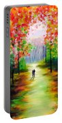 An Autumn Stroll Portable Battery Charger