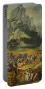 An Extensive Landscape With The Preaching Of Saint John The Baptist And The Baptism Of Christ Portable Battery Charger