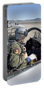 An F-15 Pilot Performs Preflight Checks Portable Battery Charger by HIGH-G Productions