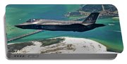 An F-35 Lightning II Flies Over Destin Portable Battery Charger
