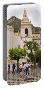 An Iffy Day In Taormina Portable Battery Charger