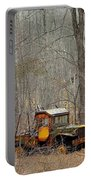 An Old Truck In The Woods. Portable Battery Charger
