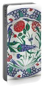 An Ottoman Iznik Style Floral Design Pottery Polychrome, By Adam Asar, No 1 Portable Battery Charger