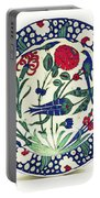 An Ottoman Iznik Style Floral Design Pottery Polychrome, By Adam Asar, No 1a Portable Battery Charger