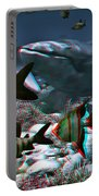 Anaglyph Whales Portable Battery Charger
