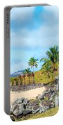 Anakena At Easter Island Portable Battery Charger