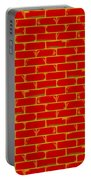 Anarchy Graffiti Red Brick Wall Portable Battery Charger