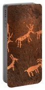 Ancient Indian Petroglyphs Portable Battery Charger by Gary Whitton