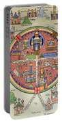 Ancient Map Of Jerusalem And Palestine Portable Battery Charger