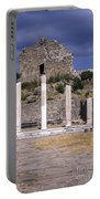 Ancient Pergamon Column Ruins Portable Battery Charger