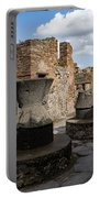 Ancient Pompeii - Bakery Of Modestus Millstones And Bread Oven Portable Battery Charger