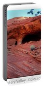 Ancient Ruins Mystery Valley Colorado Plateau Arizona 01 Text Portable Battery Charger