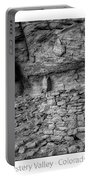 Ancient Ruins Mystery Valley Colorado Plateau Arizona 02 Bw Text Portable Battery Charger