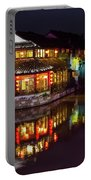 Ancient Style Restaurant On Water By Stone Bridge Portable Battery Charger