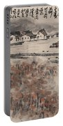 Ancient Town River Paintingancient Town River Painting Portable Battery Charger