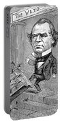Andrew Johnson Cartoon Portable Battery Charger