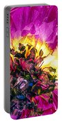 Anemone Abstracted In Fuchsia Portable Battery Charger