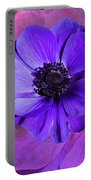 Anemone In Purple Portable Battery Charger