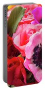 Anemones And Roses Portable Battery Charger