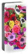 Bouquet Of Anemones Portable Battery Charger