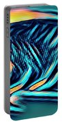 Angel Fish In Turquoise Tones Portable Battery Charger