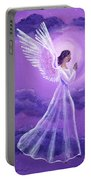 Angel In Amethyst Moonlight Portable Battery Charger
