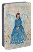 Angel In Blue Portable Battery Charger