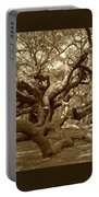 Angel Oak In Sepia Portable Battery Charger