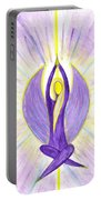 Angel Of Contemplation Portable Battery Charger