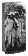 Angel On The Ground At Calvary Cemetery In Nyc New York Portable Battery Charger