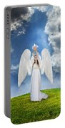 Angel Releasing A Dove Portable Battery Charger by Jill Battaglia